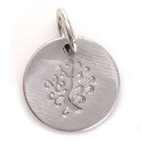 Stamped Tree Of Life Charm